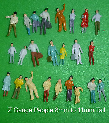 25 - Z Gauge People/Figures 8mm to 11mm Tall:New: Post Free : UK:
