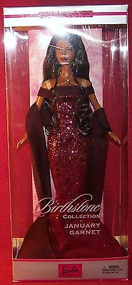 Mattel Birthstone Collection January Garnet Collector Edition Barbie Doll NRFB