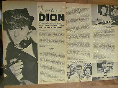 Dion, Two Page Vintage Clipping