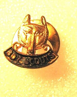Vintage Boy Scouts Canada Metal Button Hole Pin~Scully Ltd Montreal