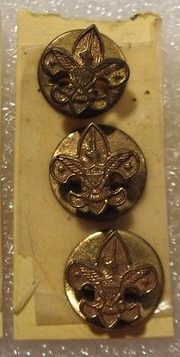Vintage Boy Scouts BSA Fleur De Lis Rare Lapel Pin Button set of 3 New OLD STOCK
