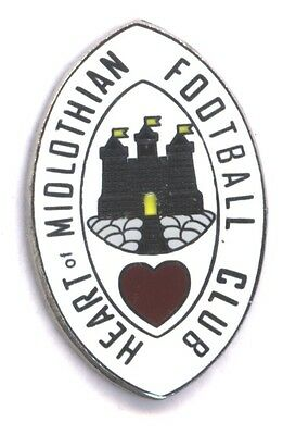 Heart of Midlothian - Old Club Crest - Pin Badge (White)