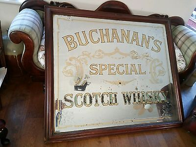 Large Victorian mirror publichouse advertising Whisky 1 of 2 listings