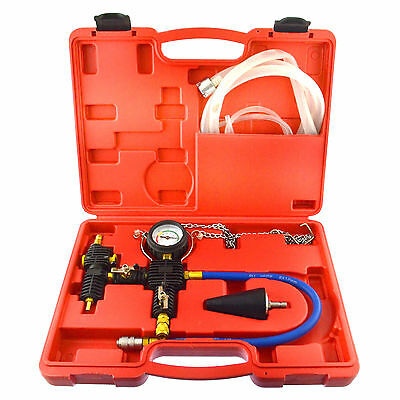 Universal Cooling System Radiator Vacuum Evacuate Test and Refill Kit in case