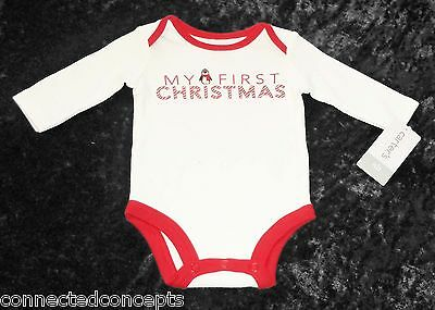 c7c858fa4 Christmas Carters My First Christmas Infant Bodysuit (SIZES: Newborn, 3  Months)