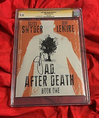 Cgc Ss 9.8~A.d. After Death Ashcan #1~Signed By Scott Snyder~Nycc Exclusive~