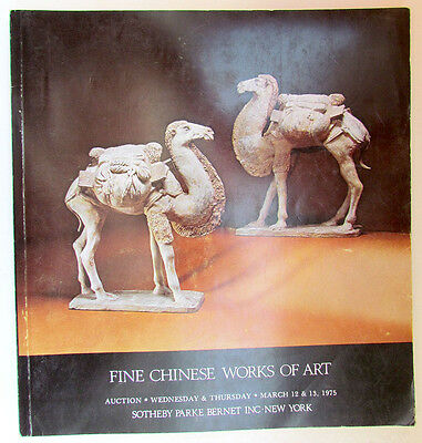 Fine Chinese Works Of Art Sotheby's New York 1975 Auction Catalog