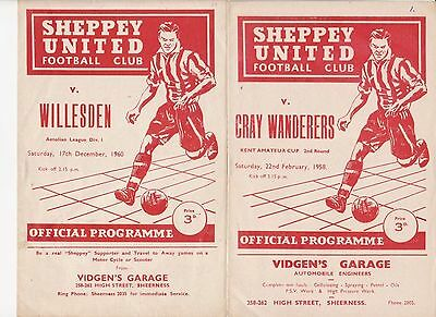 57/58 Sheppey United v Cray Wanderers Kent Amateur Cup