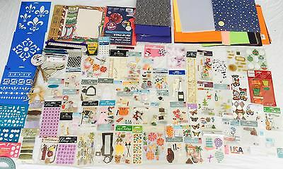 HUGE Lot Scrapbook Items Stickers Embellishments Paper Christmas Holidays MORE