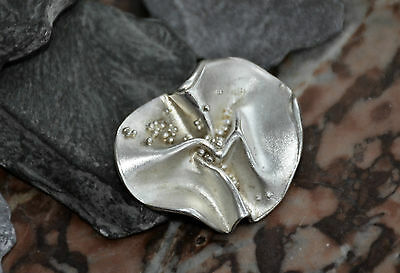 Lovely Unique Handmade Organic Freestyle  925 Sterling Solid Silver Brooch