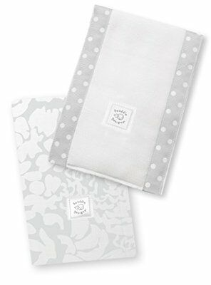 SwaddleDesigns Baby Burpies, Sterling Lush Set of 2 Burp Cloths