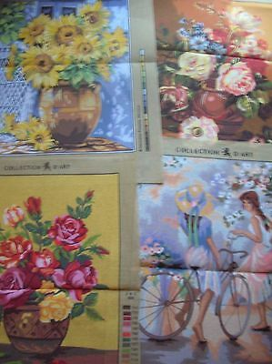 Tapestry Canvassses 4 in total New Assorted design,Makes & Sizes