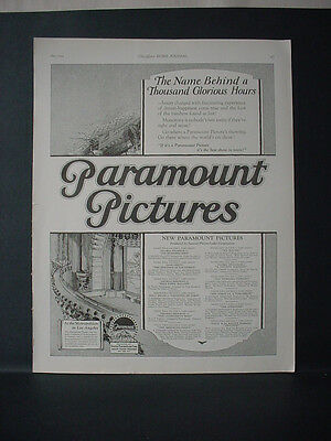 1924 Paramount Pictures Metropolitan Los Angeles List Movies Vtg Print Ad 11775