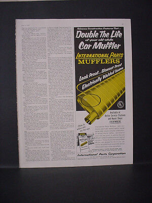 1959 International Parts Car Muffler Double the Life Vintage Print Ad 11651