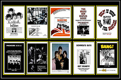 Beatles  -  Collection Of 10 Mixed Postcards # 2