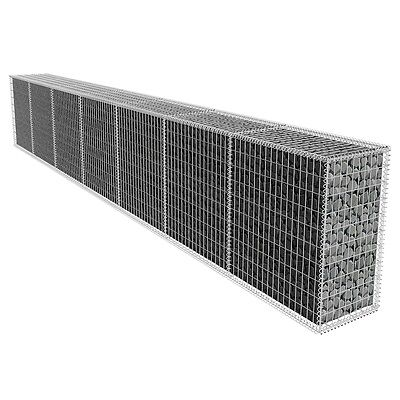 New Galvanised Steel Gabion Wall with Cover 600x50x100cm High Load Capacity