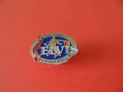 The King Of Rock and Roll Elvis Pin badge.