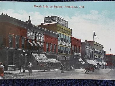 1916 North Side of Square in Frankfort, In Indiana PC