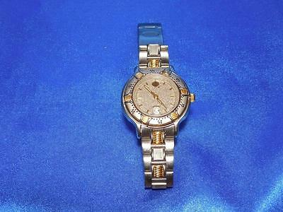 Harley Davidson Ladies Gold and Silver Watch Matching HD Band, Date display