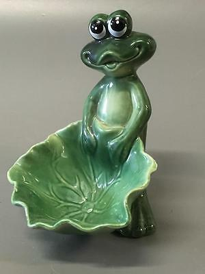Ceramic Frog Collectible///colorful Life Like Frog Figurine~Garden Art Good Con