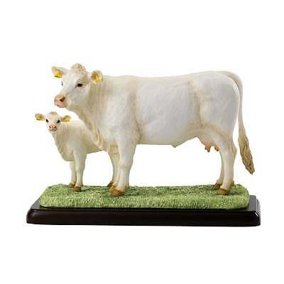 Border Fine Arts Charolais Cow & Calf Figurine New Boxed A26092