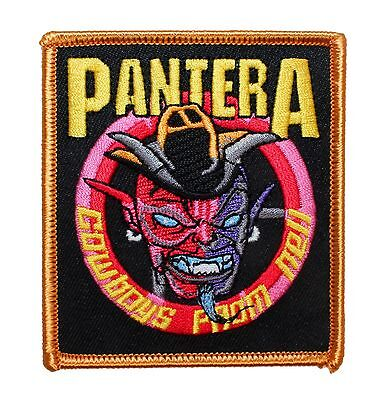 """""""Pantera: Cowboys From Hell"""" Band Art Metal Music Apparel Iron On Applique Patch"""