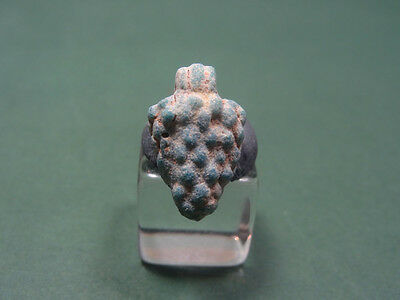 Ancient Pendant Grape Cluster Faience Egyptian Late Period 716-30 Bc