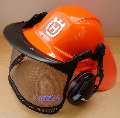 HUSQVARNA FUNCTIONAL CHAINSAW SAFETY HELMET - With Ultra Vision Visor 576412402