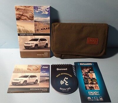 15 2015 Jeep Grand Cherokee owners manual/user guide