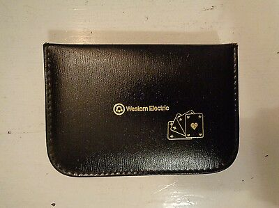 Vintage AT&T Telephone Promotional Playing Cards in Leather Case