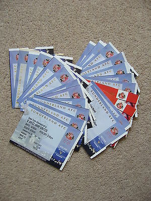 SUNDERLAND HOME TICKETS 2004/5 x23 INC 1 CARLING CUP & 1 FA CUP