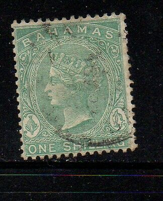 Bahamas Sc 22 1882 1/ green Victoria stamp used