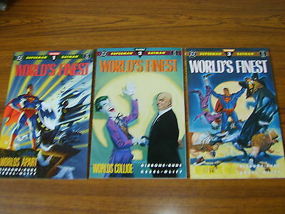 World's Finest 1 - 3  Set (Dc) Prestige Format (1990)