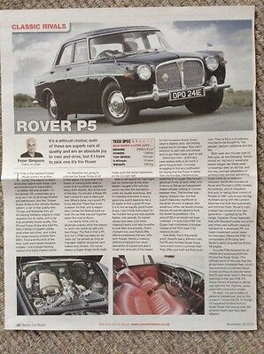 Rover P5 - Classic test article