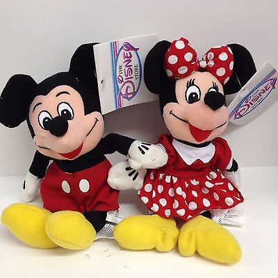 Disney Mickey & Minnie Mouse Beanbags with Tags