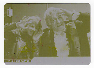 Topps Doctor Who 2015 Who Is The Dr D-3 The 3rd Doctor - Yellow Printing Plate
