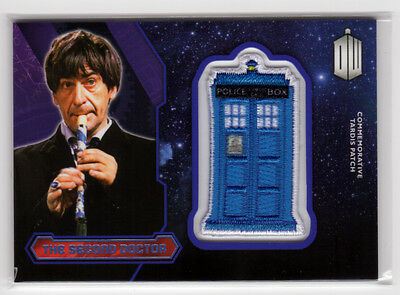 Topps Doctor Who 2015 The Second Doctor Purple Parallel Tardis Patch Card 43/99