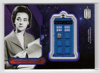 Topps Doctor Who 2015 Barbara Wright Purple Parallel Tardis Patch Card 10/99