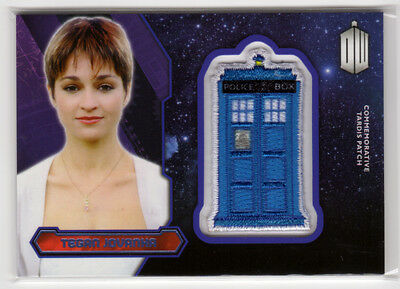 Topps Doctor Who 2015 Tegan Jovanka Purple Parallel Tardis Patch Card 44/99
