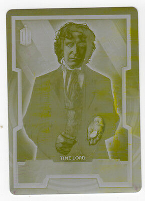 Topps Doctor Who 2015 Base Card #8 The Eighth Doctor - Yellow Printing Plate