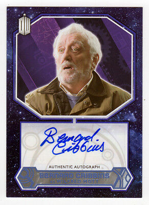 Topps Doctor Who 2015 Bernard Cribbins as Wilfrid Mott Blue Autograph Card 38/50