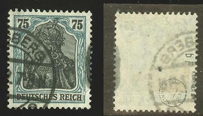 Germany: Mi.104bF frame color error used, signed INFLA, Ochsner