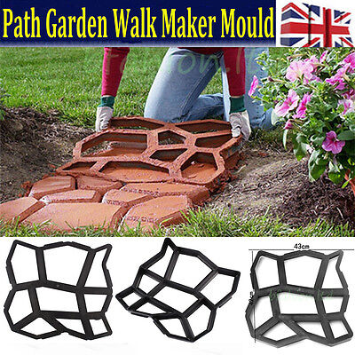 Driveway Paving Brick Patio Concrete Slabs Pathmate Garden Walk Maker Mould