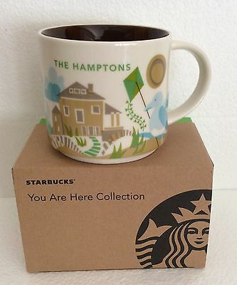 Starbucks Coffee YOU ARE HERE 14 Oz Mug HAMPTONS Cup ~ YAH Collection NEW in BOX