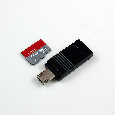 2in1 MicroSDXC USB Card Reader OTG Reader Adapter for Android Phone up to 128GB