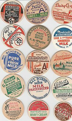 Lot Of 15 Different Milk Bottle Caps. All Named Dairies. #9