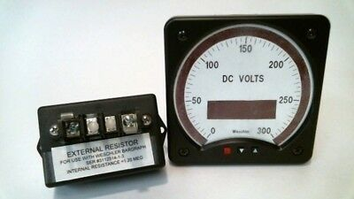 Weschler Instruments BG241 300 Max Scale: 0-300 Voltmeter with External Resistor