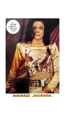MICHAEL JACKSON ~ GOLD I LOVE YOU 25x36 MUSIC POSTER NEW/ROLLED!