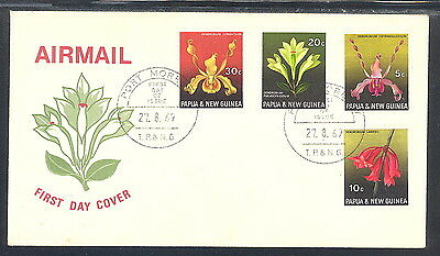 Papua New Guinea Airmail FDC Orchids 1969