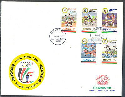 Kenya Oversize FDC 4th All Africa Games 1987